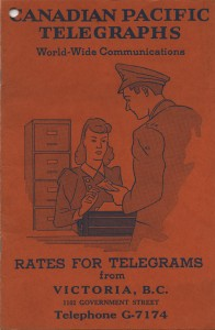 Canadian Pacific Telegram book cover